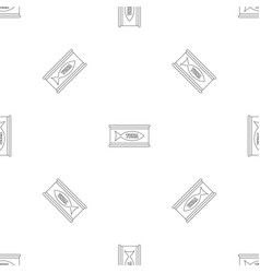 tuna tin can pattern seamless vector image
