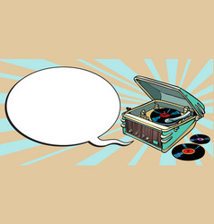 turntable comics music and party vector image