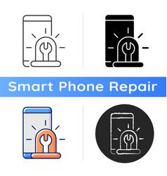 Urgent phone repairs icon vector