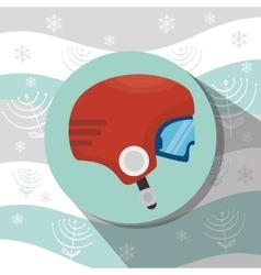 Winter sport wear and accesories vector image