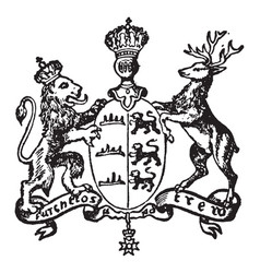 wurtemberg coat of arms have lion and deer vector image