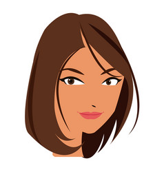 beautiful face woman business concept vector image