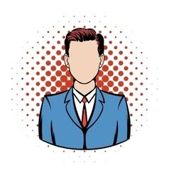 Businessman comics icon vector image vector image