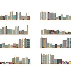 City landscapes collection vector image vector image