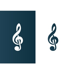 Clef music symbol logo icon business - isolated vector