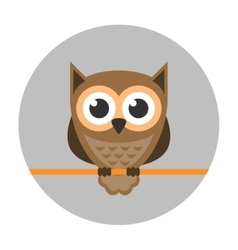 Owl icon flat vector image