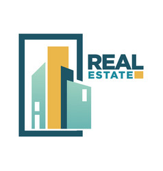 real estate icon template for building vector image vector image