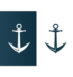 Anchor business modern logo silhouette ship - vector image