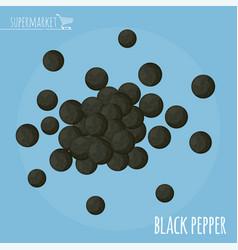 black pepper flat design icon vector image