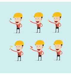 cartoon engineer charactor for home build vector image