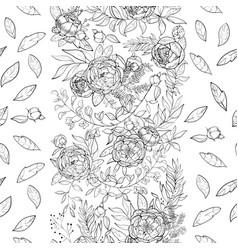 vintage peony pattern vector image