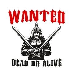 Warrior gladiator knight sign vector image vector image
