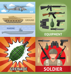 Colorful military square concept vector