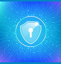 cyber security protect vector image vector image