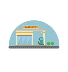 gas station flat design vector image