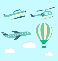 set aircraft vector image