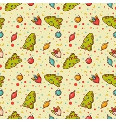 Christmas colorful Seamless background vector image vector image