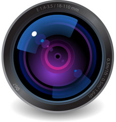 Icon for camera lens vector image vector image