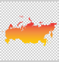 Russia russian federation map colorful orange vector