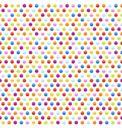 seamless background pattern with multicolored dots vector image vector image