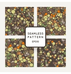 Set of seamless pattern of chaotic spots vector image vector image