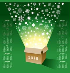 2018 creative christmas calendar vector image