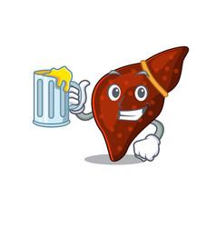 A cartoon concept human cirrhosis liver rise vector