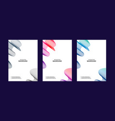 abstract banner bag round collections colors vector image