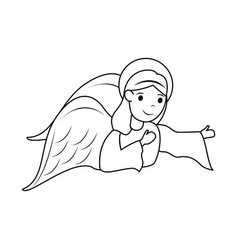 Angel cute cartoon icon image vector