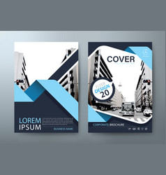 annual report brochure flyer cover template vector image