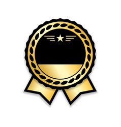 award ribbon gold vector image
