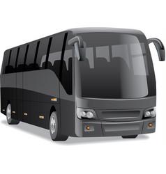 Black city bus vector