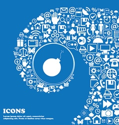 Bomb icon Nice set of beautiful icons twisted vector