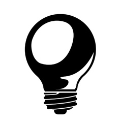 bulb drawing isolated icon design vector image