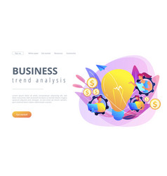 business trend analysis concept landing page vector image