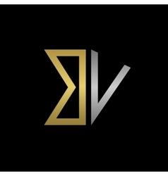 BV letters logo vector