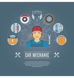 Car Mechanic Concept Icons vector