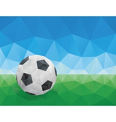 Classic Soccer Ball Green Grass and Blue Sky vector image