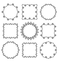 Collection of hand drawn ornamental frames vector image