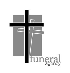 cross for grave funeral agency isolated icon vector image