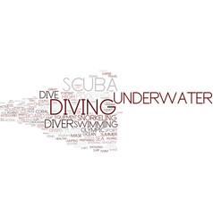 Diving word cloud concept vector