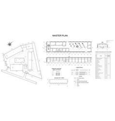 Drawing of vehicle fleet format vector
