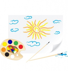 drawing sun vector image