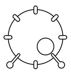 drum icon outline style vector image