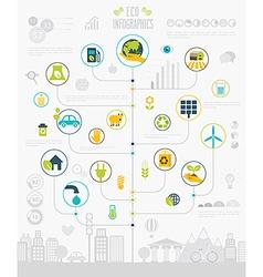 eco info vector image