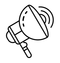 electric megaphone icon outline style vector image