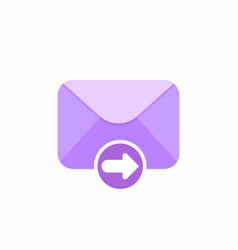 email envelope forward mail message icon vector image