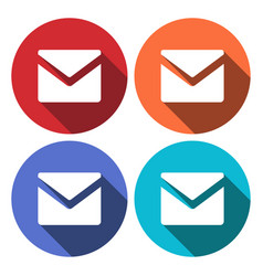 envelope mail icon email message sign internet vector image