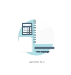 Flat background Workplace vector image