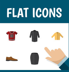 Flat icon clothes set of banyan stylish apparel vector